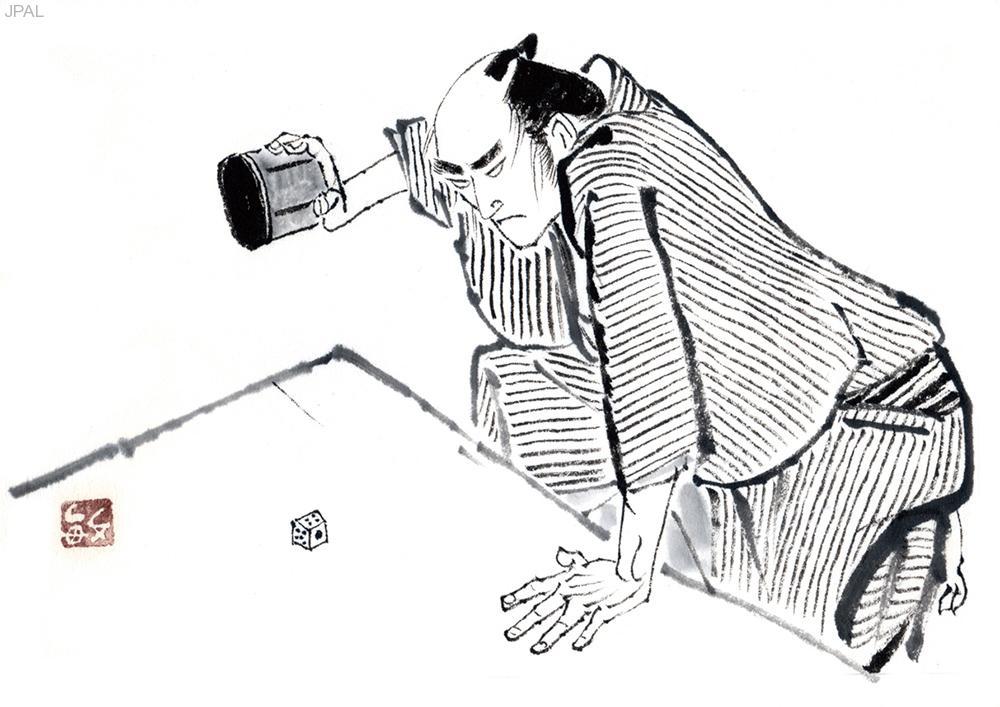 KatoToshiro_江戸黒絵図「さいころ師」