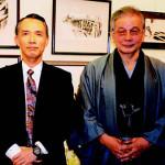 森村誠一氏(左)と堂昌一。撮影年月不明