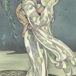 00127-01高畠華宵「やなぎ」(華宵便箋表紙原画)©弥生美術館 非買品