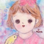 10032-高津南海子「夢の中の少女」(遺作)