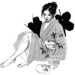 星 恵美子 「 モノクロームの女」東スポ新聞連載 15,000円