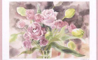 青木美和 透明水彩画展 作品 バラ