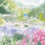 青木美和参加『第9回日本透明水彩会展』